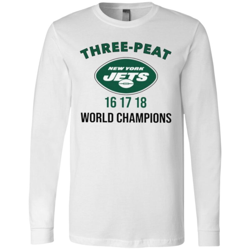 Three Peat New York Jets Champions T Shirt