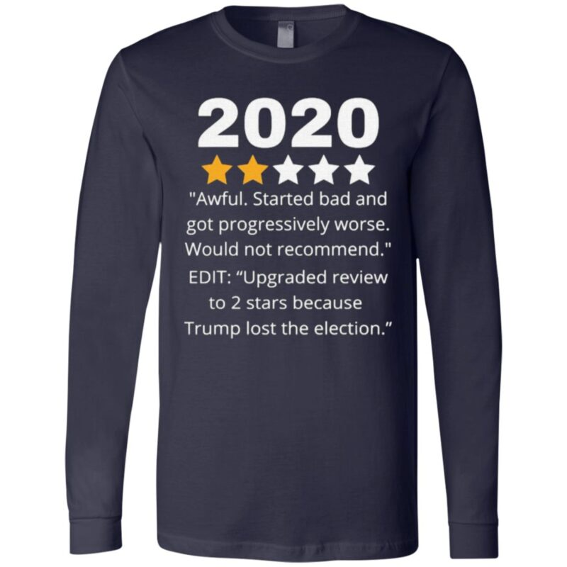 2020 Review Two Stars Awful Bad Rating Would Not Recommend T Shirt