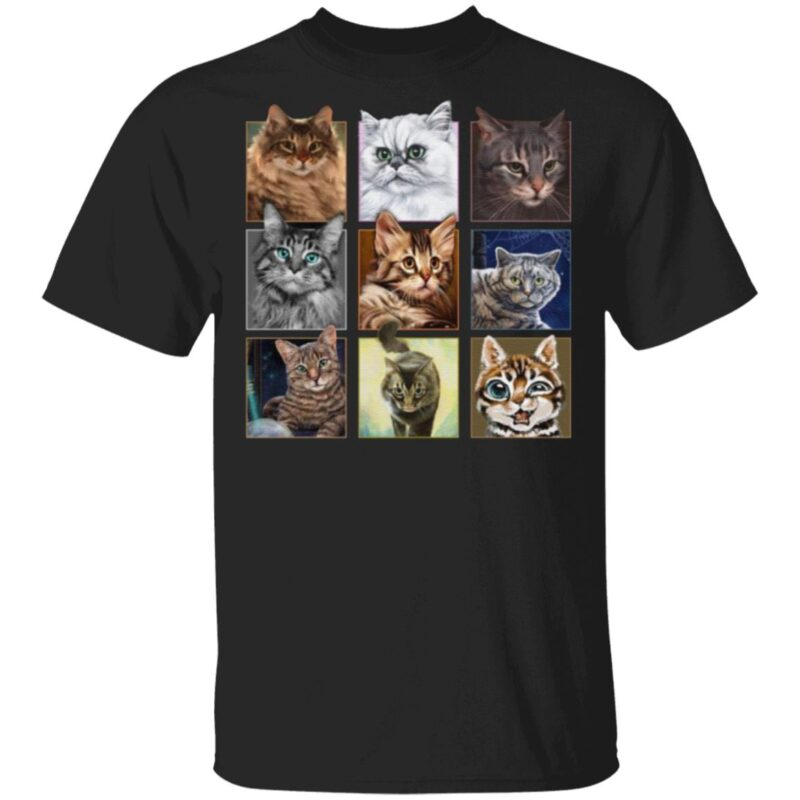 Cats In Squares T-Shirt