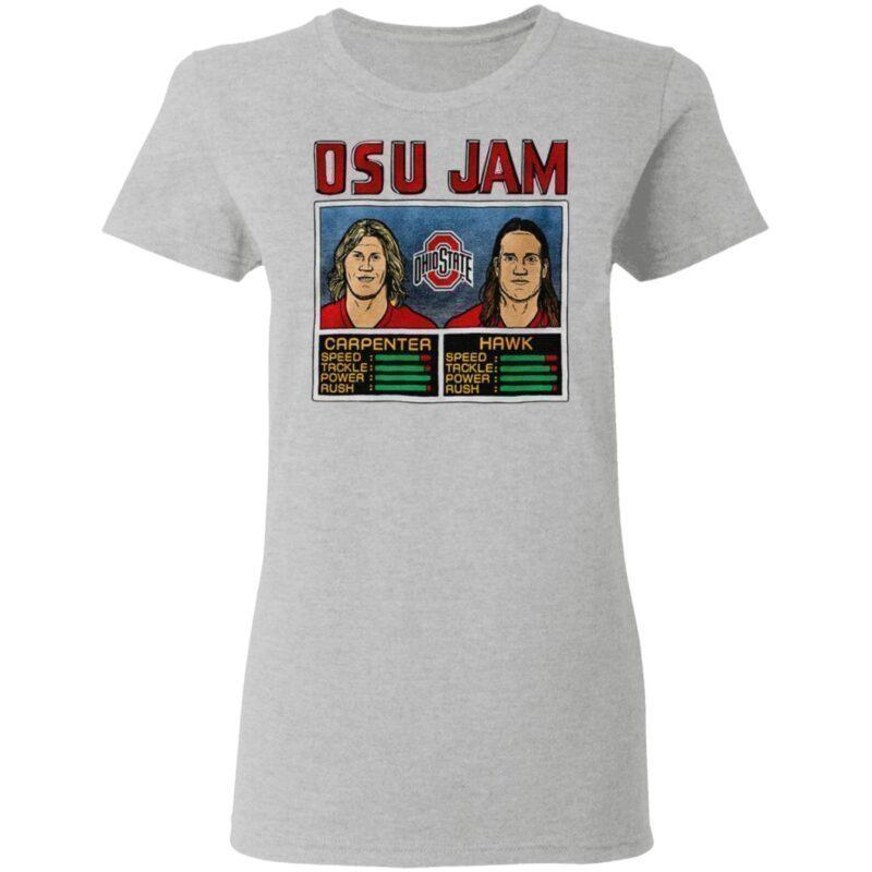 Osu Jam Ohio State Carpenter Hawk T Shirt