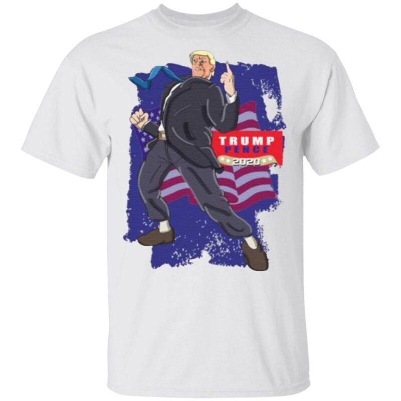 Trump Pence 2020 American Flag t shirt