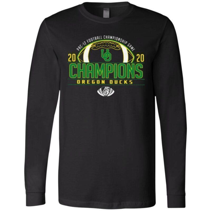 Oregon Ducks 2020 PAC-12 Football Champions T Shirt