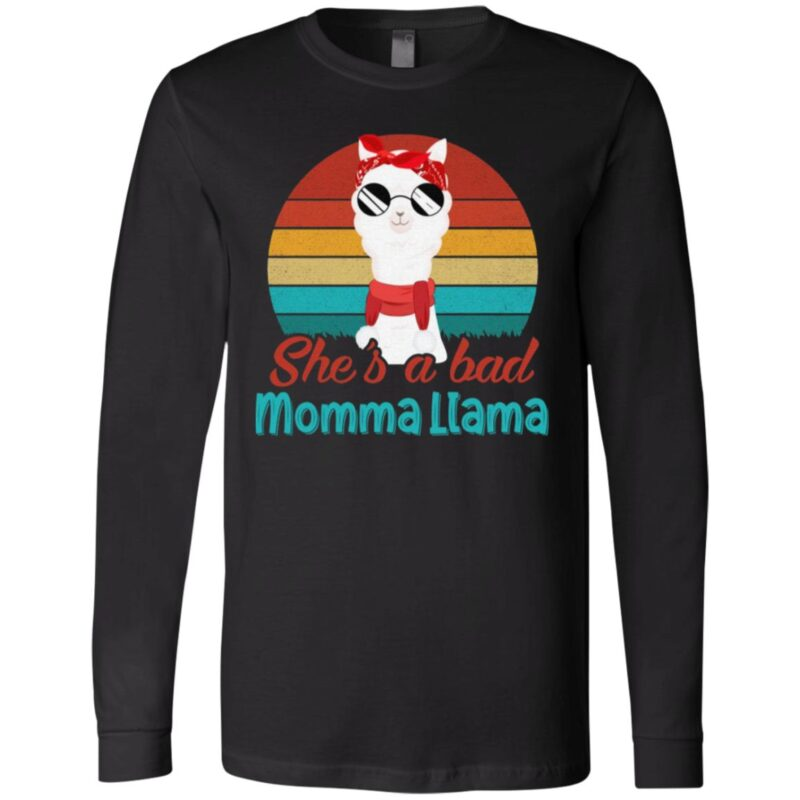 She's a Bad Momma Llama Retro Vintage T-Shirt