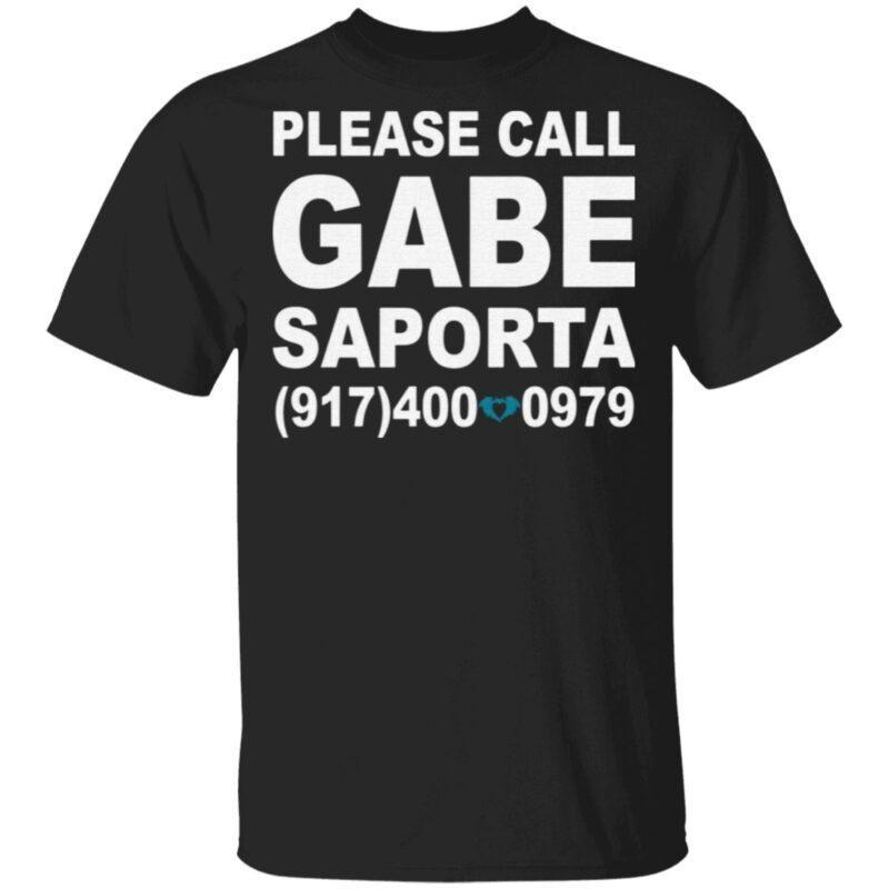 Please Call Gabe Saporta T Shirt