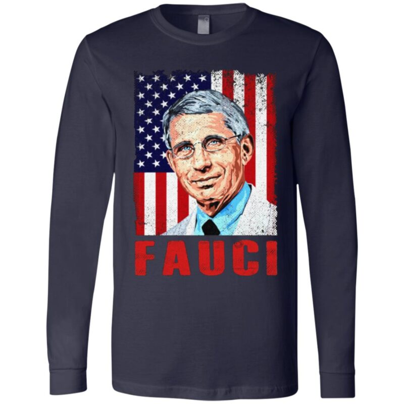 We Trust In Science Dr Fauci Vintage American Flag T-Shirt