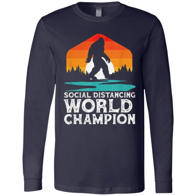 Bigfoot Social Distancing World Champion Sasquatch Vintage T Shirt