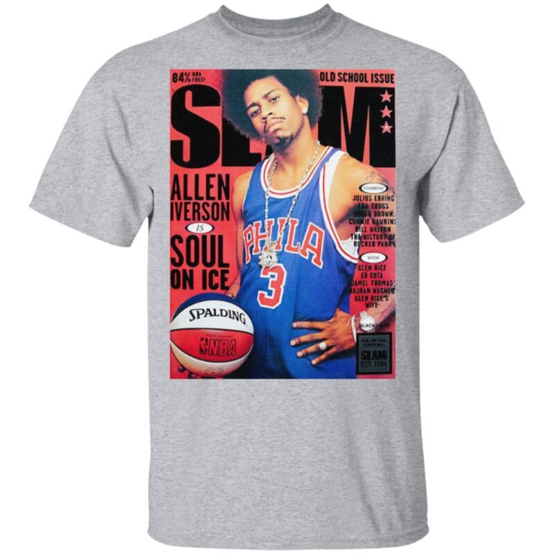 Old school issue Slam Allen Iverson Soul On Ice T Shirt