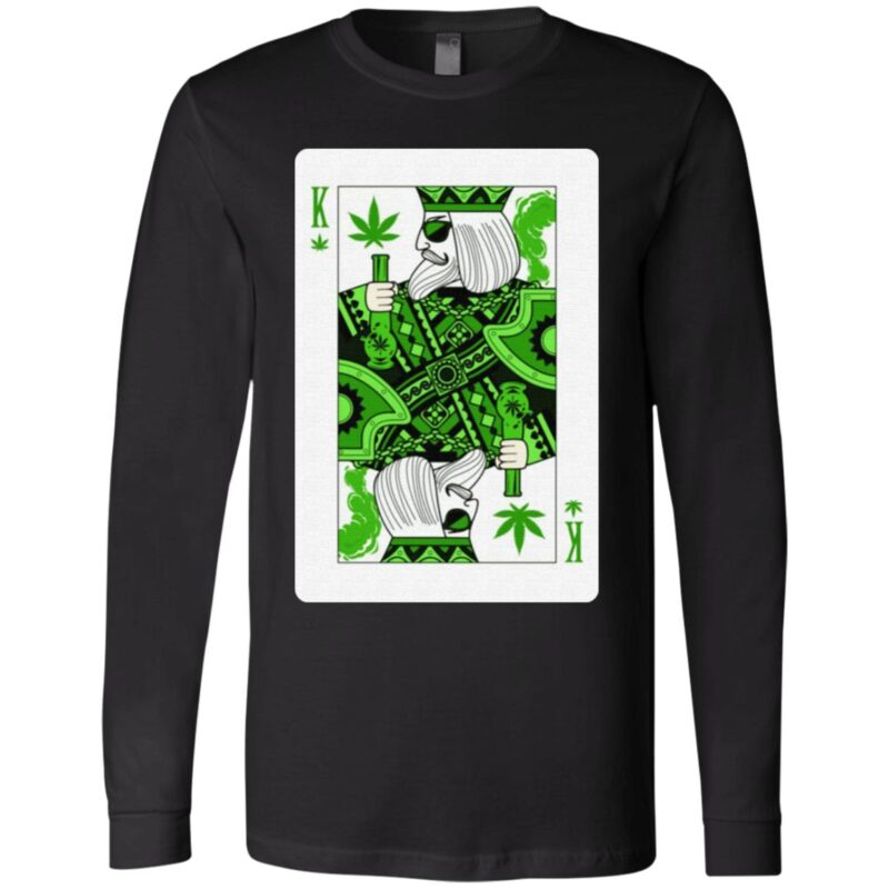 King Of Weed Playing Card Marijuana Pot Smoker Gifts T-Shirt