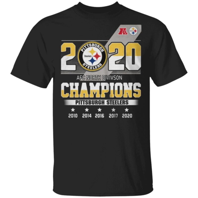 2020 AFC North division Champions Pittsburgh Steelers t shirt