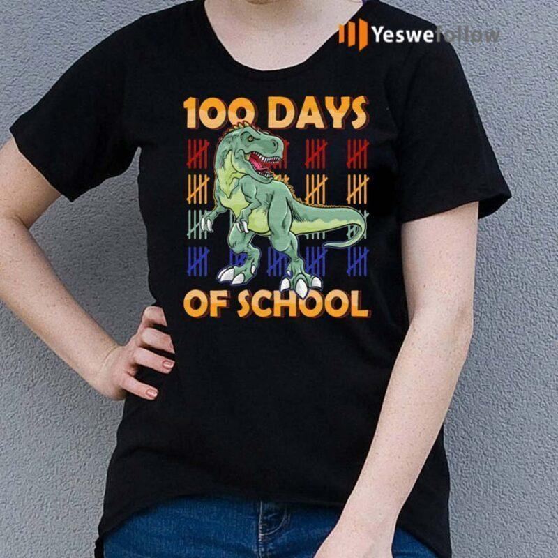 100-Days-Of-School-Dinasour-Shirts