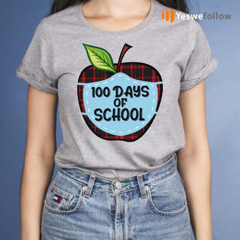 100-Days-of-School-Apple-Masked-Youth-Shirts
