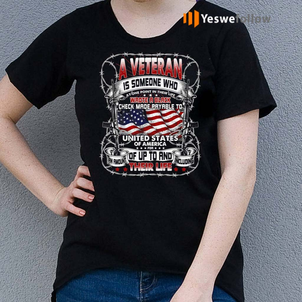 A-Veteran-Is-Someone-Who-Wrote-A-Black-Print-On-Back-Only-Shirts