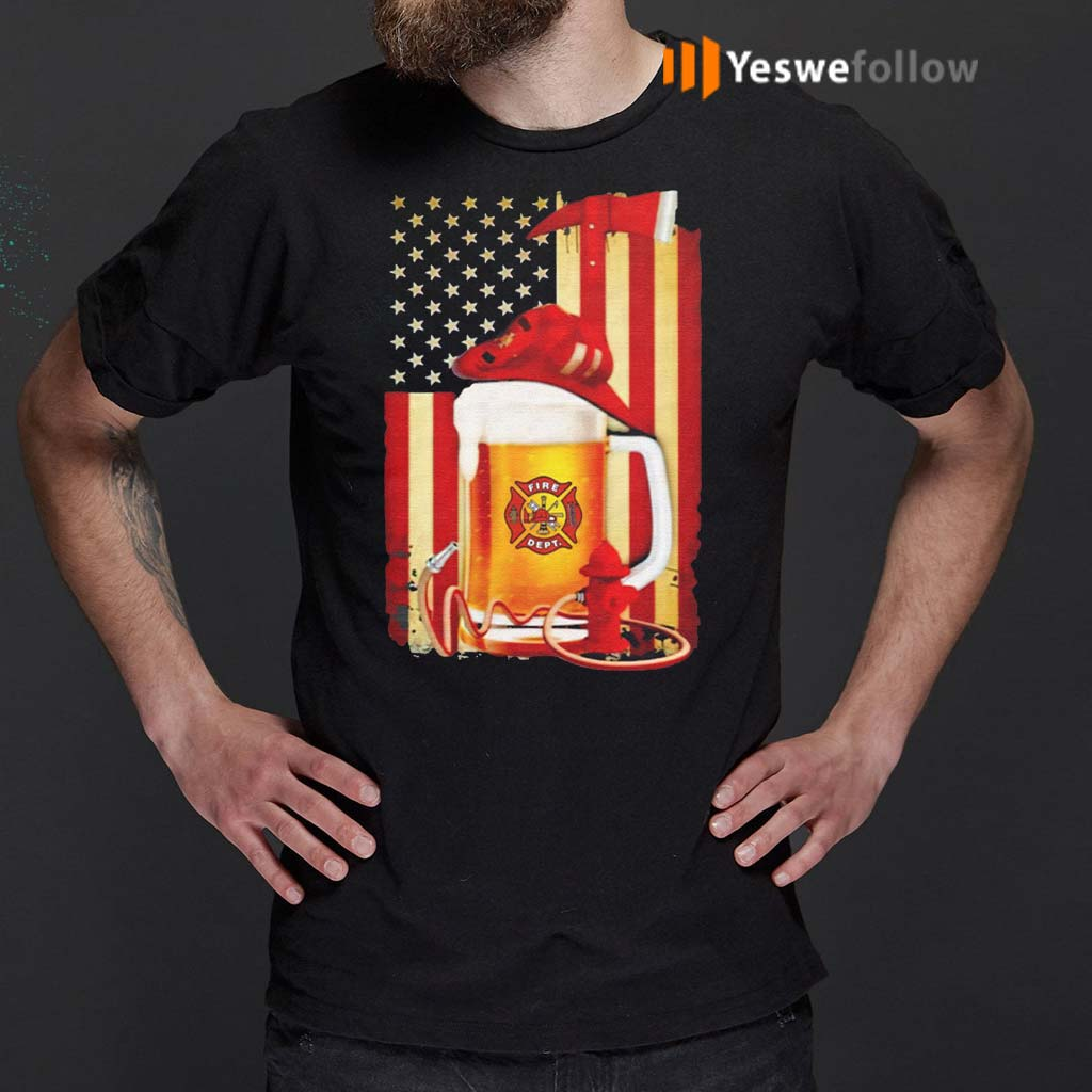 Beer-Fire-Dept-American-Flag-Shirt
