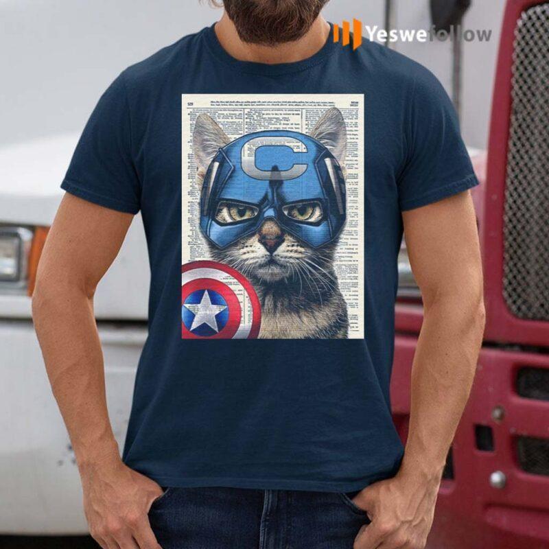 Cat-Captain-America-Shirt