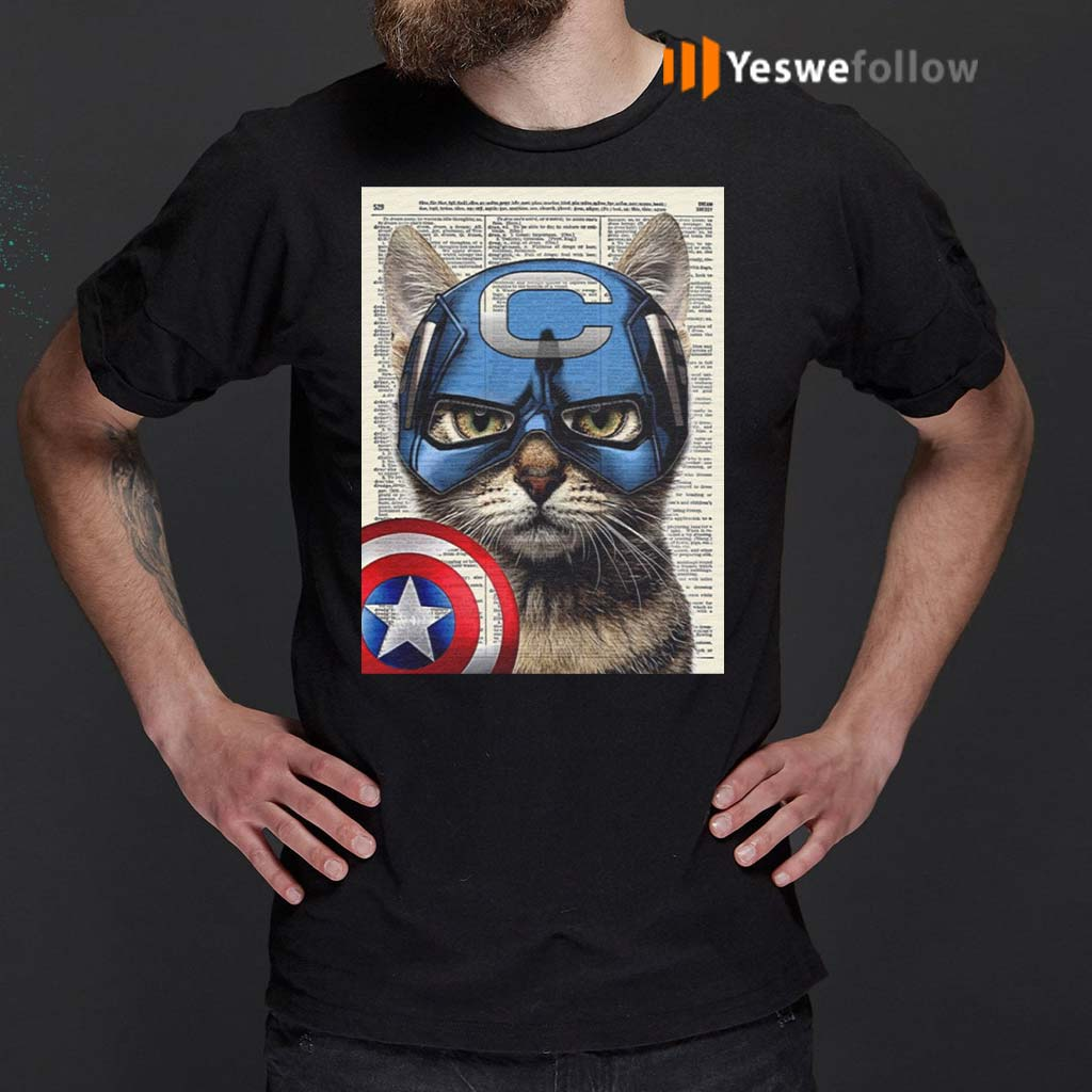 Cat-Captain-America-Shirts