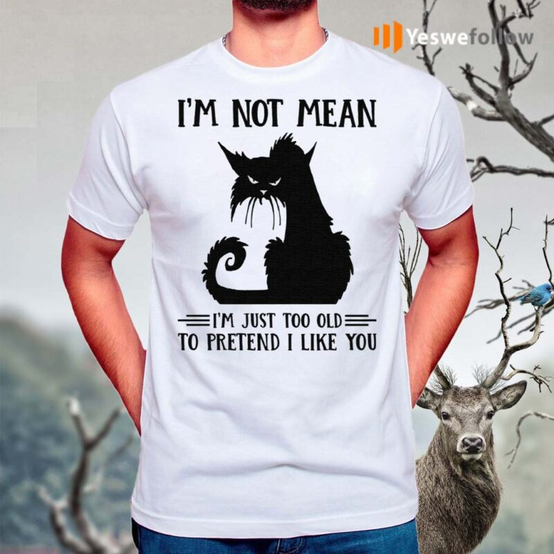 Cat-I'm-Not-Mean-I'm-Just-Too-Old-To-Pretend-I-Like-You-Shirts