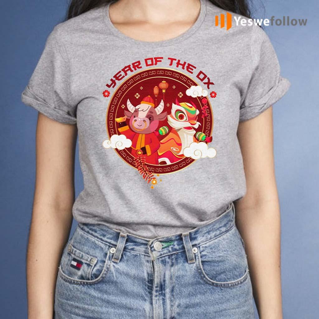 Chinese-Zodiac-Year-Of-Ox-2021-T-Shirts