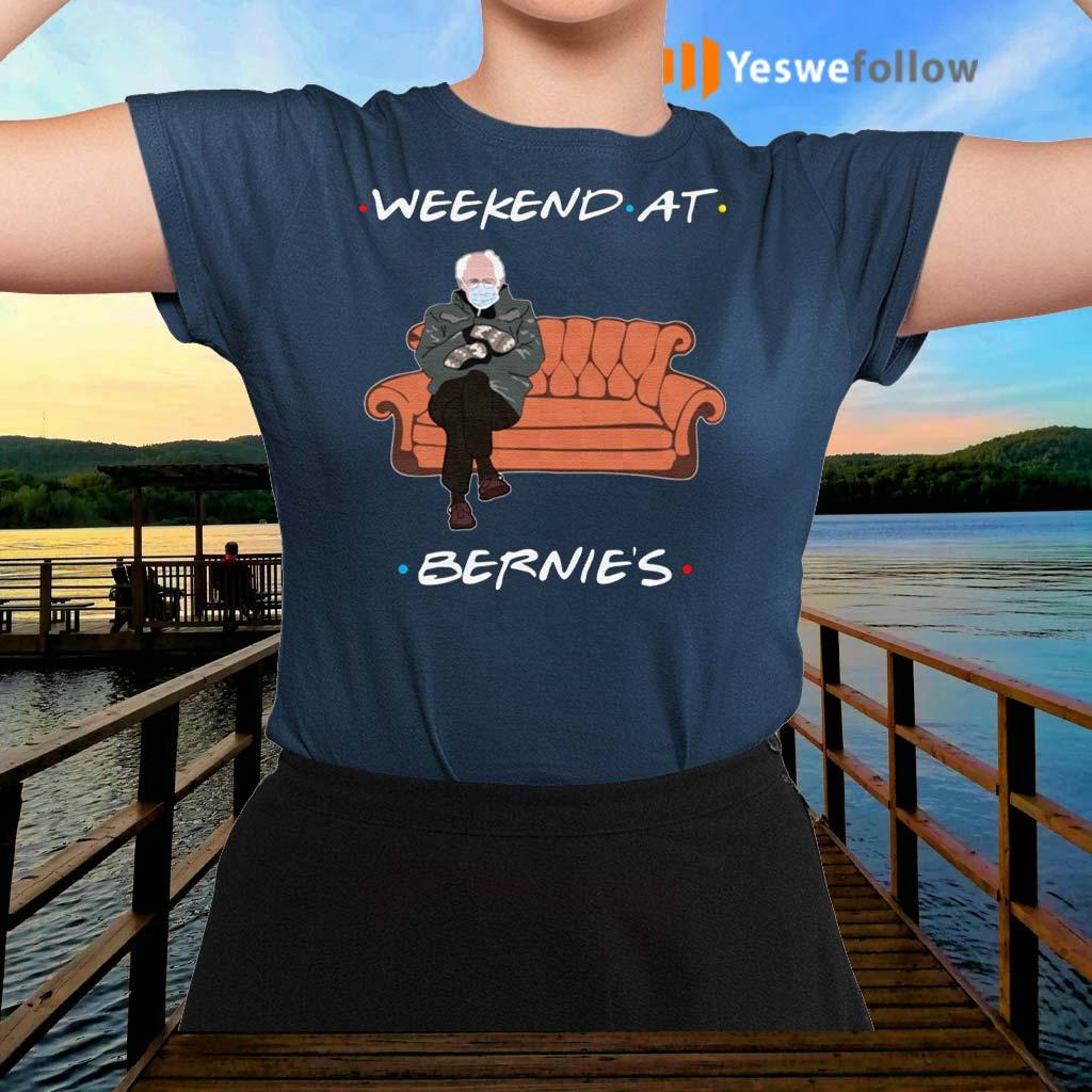 Friends-Weekend-At-Bernies-Sanders-T-Shirts