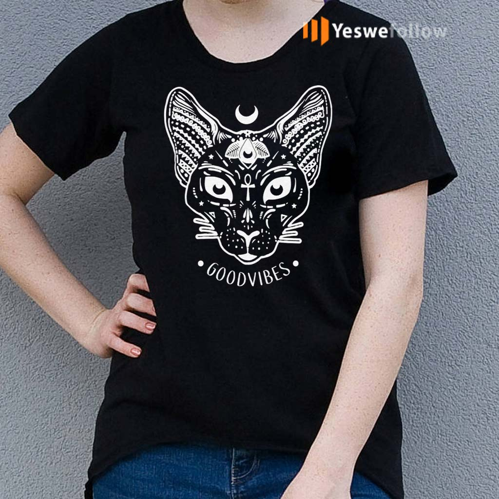 Good-Vibes-with-Sphynx-Cat-T-Shirt