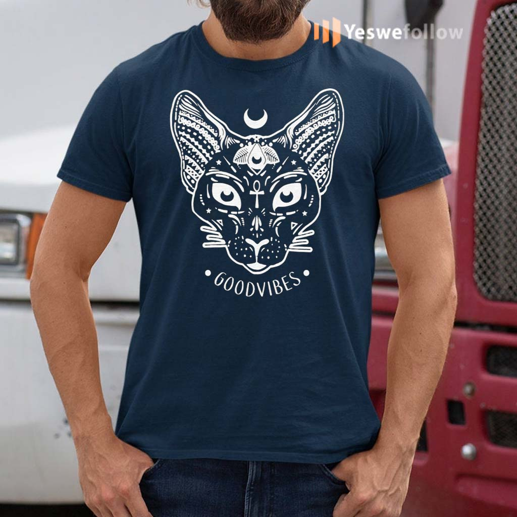 Good-Vibes-with-Sphynx-Cat-T-Shirts