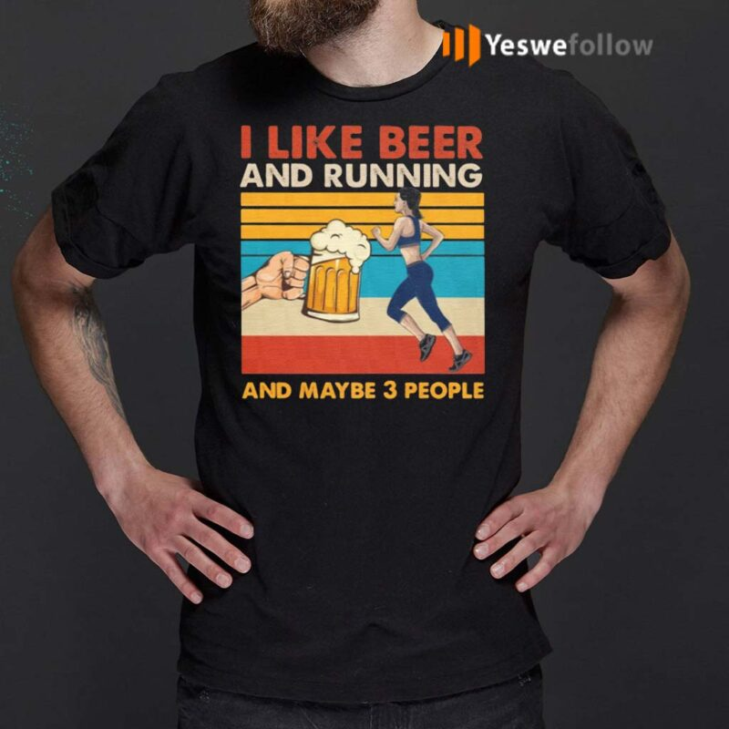 I-Like-Beer-And-Running-Shirts