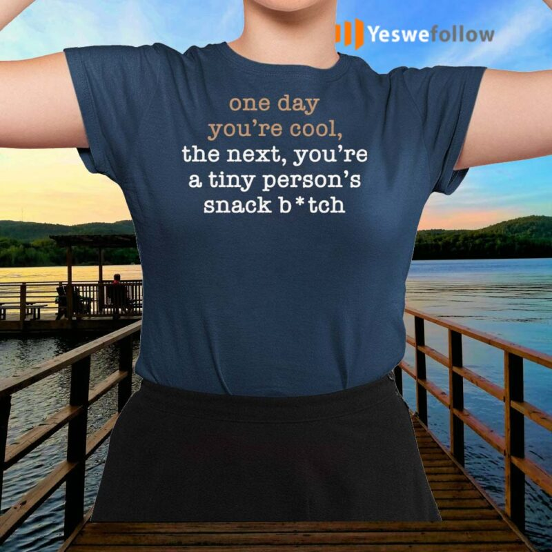 One-Day-You're-Cool-The-Next-You're-A-Tiny-Person's-Snack-Bitch-TShirt