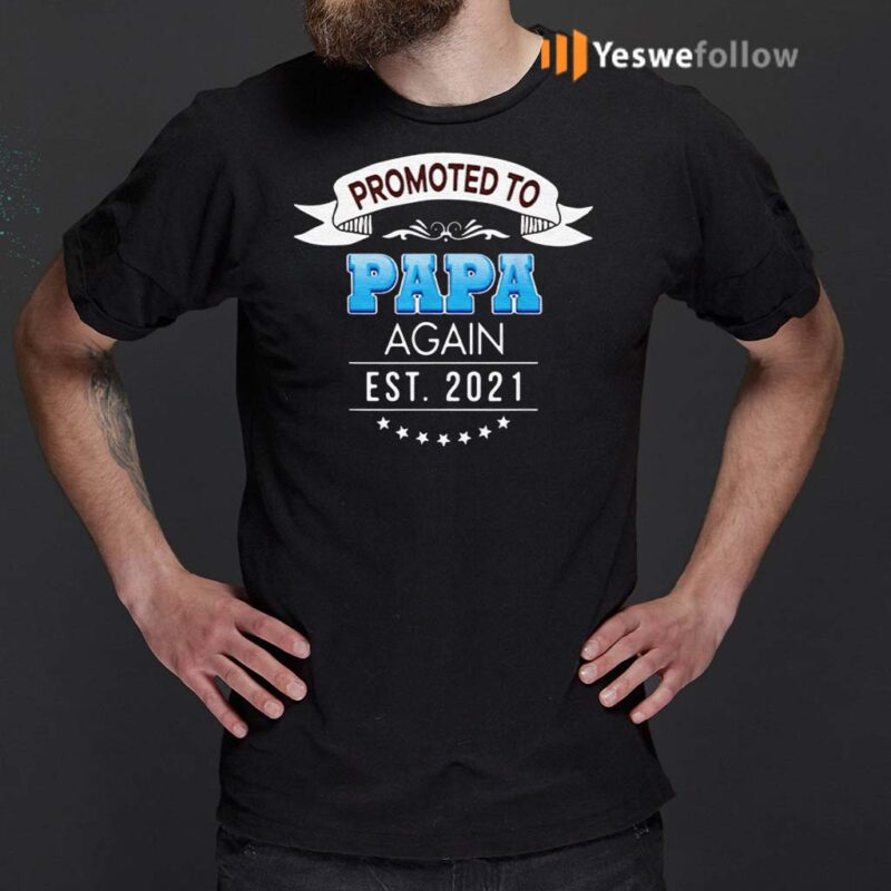 Promoted-to-papa-again-est-2021-shirts