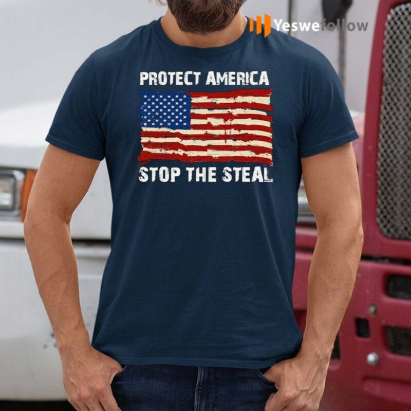 Protect-America-Stop-The-Steal-Voter-Fraud-Trump-2020-Us-Flag-Shirts