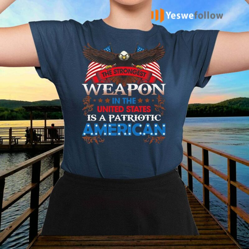 The-Strongest-Weapon-In-The-United-States-Is-A-Patriotic-American-Print-On-Back-Only-Shirt