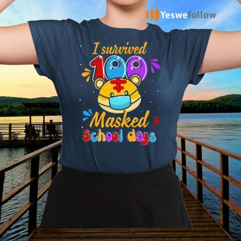 Tiger-I-Survived-100-Masked-School-Day-2021-Shirt