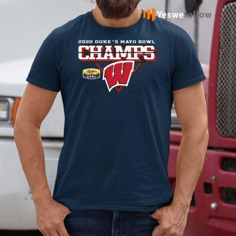 Wisconsin-Badgers-2020-Duke's-Mayo-Bowl-Champions-Shirt