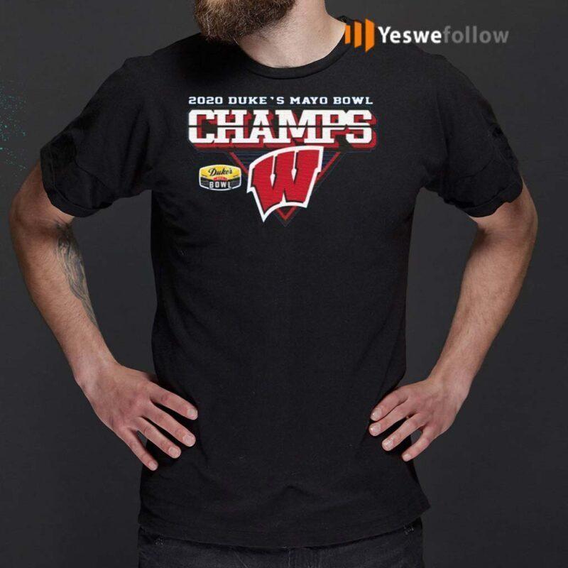 Wisconsin-Badgers-2020-Duke's-Mayo-Bowl-Champions-Shirts