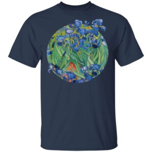 Vincent Van Gogh Irises Fine Art Painting T-Shirt