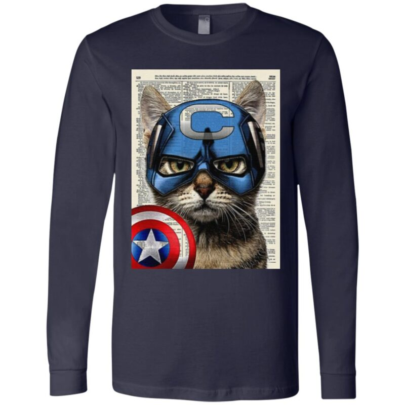 Cat Captain America T Shirt