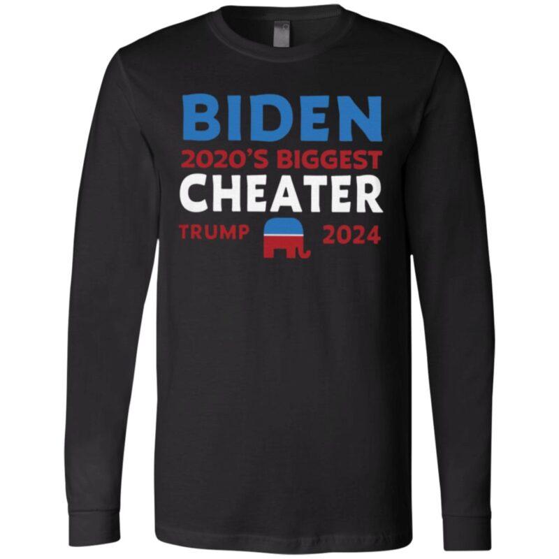 Biden 2020 Biggest Cheater Trump 2024 T Shirt