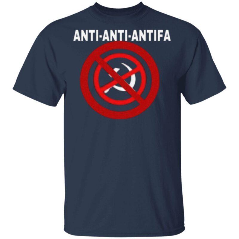 anti anti antifa t shirt