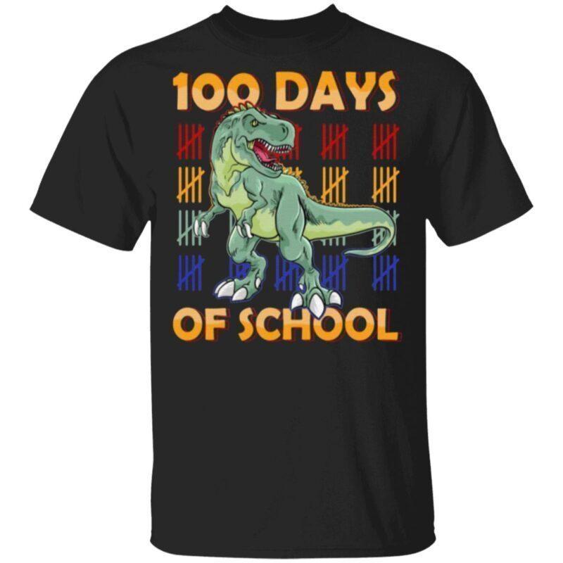 100 Days Of School Dinasour T Shirt