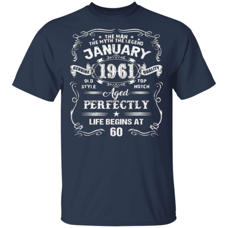 Legends Were Born In January 1961 60Th Birthday T Shirt