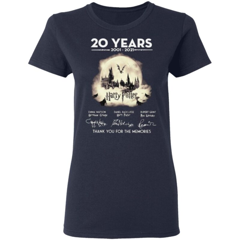 20 Years Of Harry Potter Thank You For The Memories T Shirt