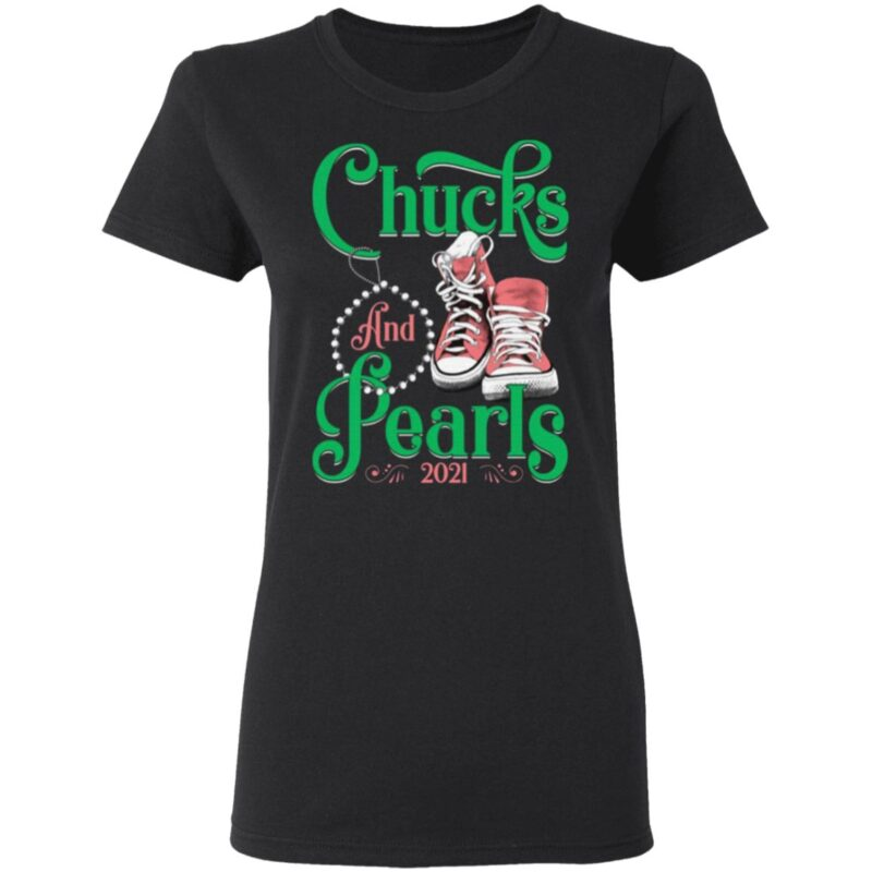 2021 Chucks And Pearls Kamala AKA 1908 Sorority T-shirt