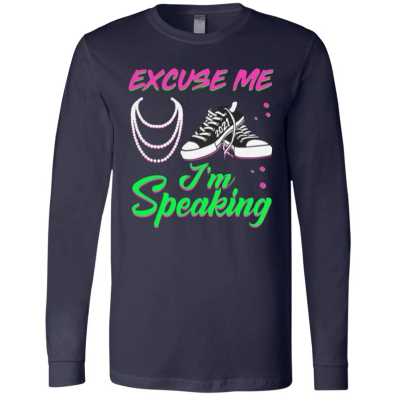 Excuse Me I'm Speaking Chucks And Pearls Kamala Harris 2021 T Shirt