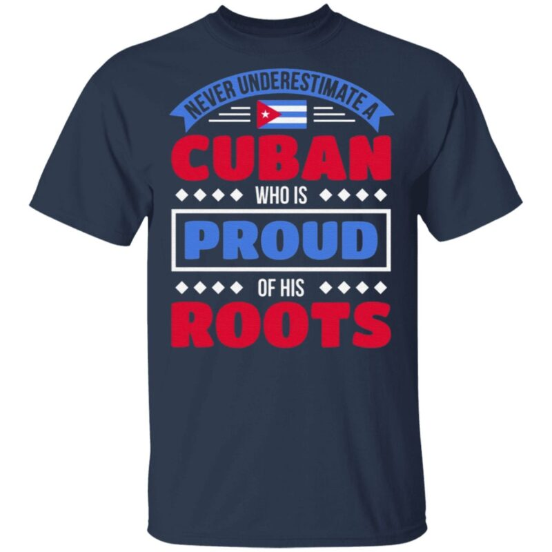 Never Underestimate A Cuban Who Is Proud Of His Roots TShirt