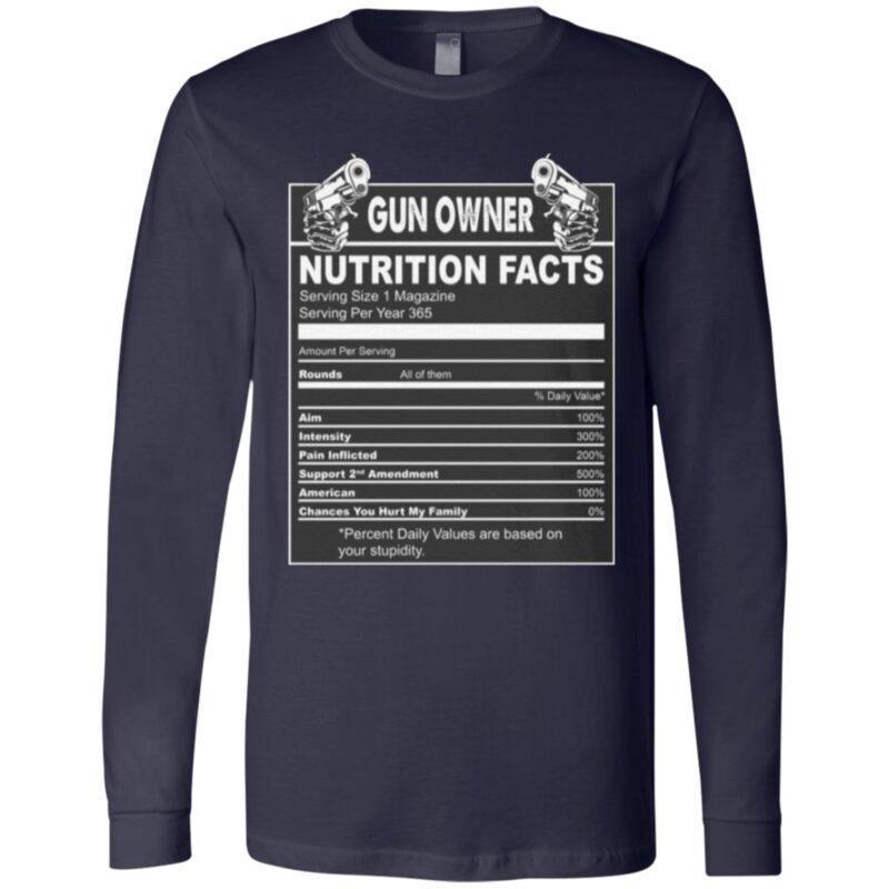 Gun Owner Nutrition Fact T-Shirt