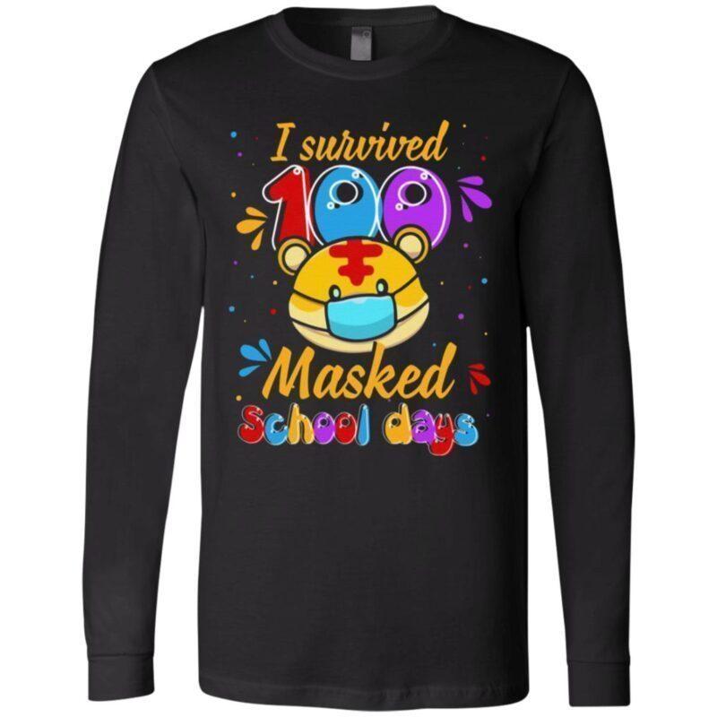 Tiger I Survived 100 Masked School Day 2021 T-Shirt