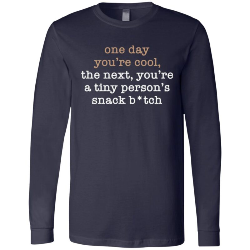 One Day You're Cool The Next You're A Tiny Person's Snack Bitch T Shirt