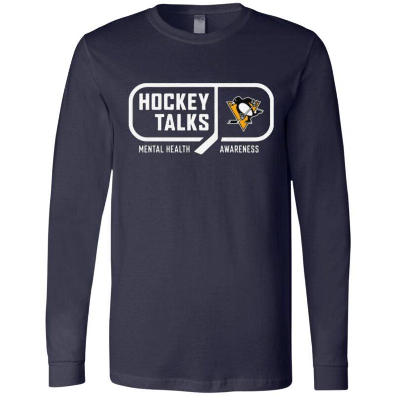 Hockey Talks Mental Health Awareness Pittsburgh T Shirt