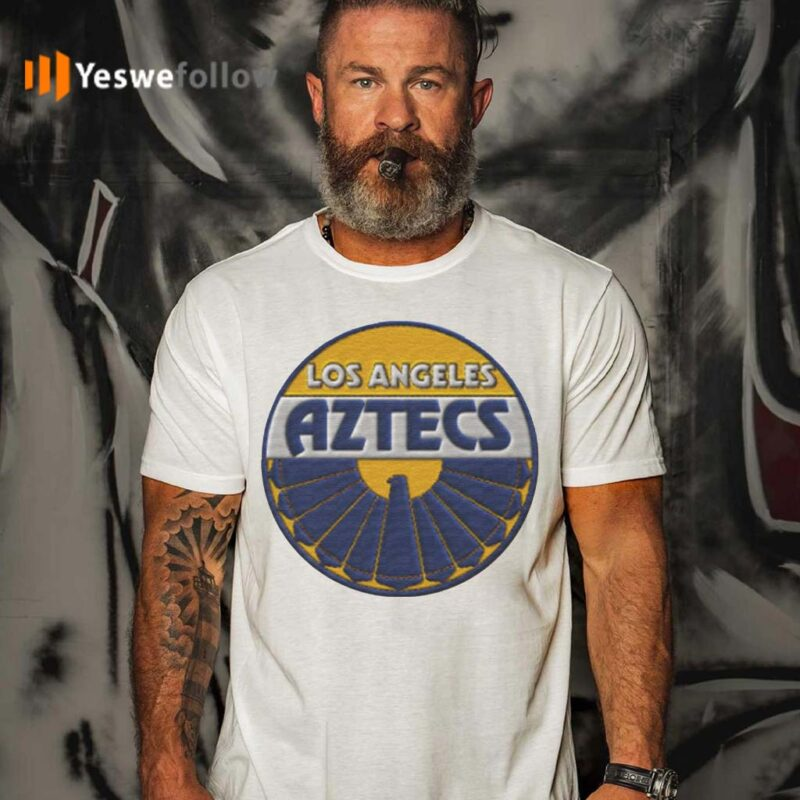 Los-Angeles-Aztecs-Embroidery-Patch-look-T-Shirt