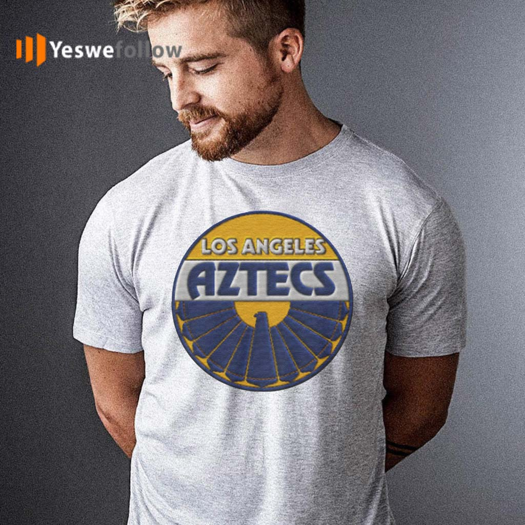 Los-Angeles-Aztecs-Embroidery-Patch-look-T-Shirts