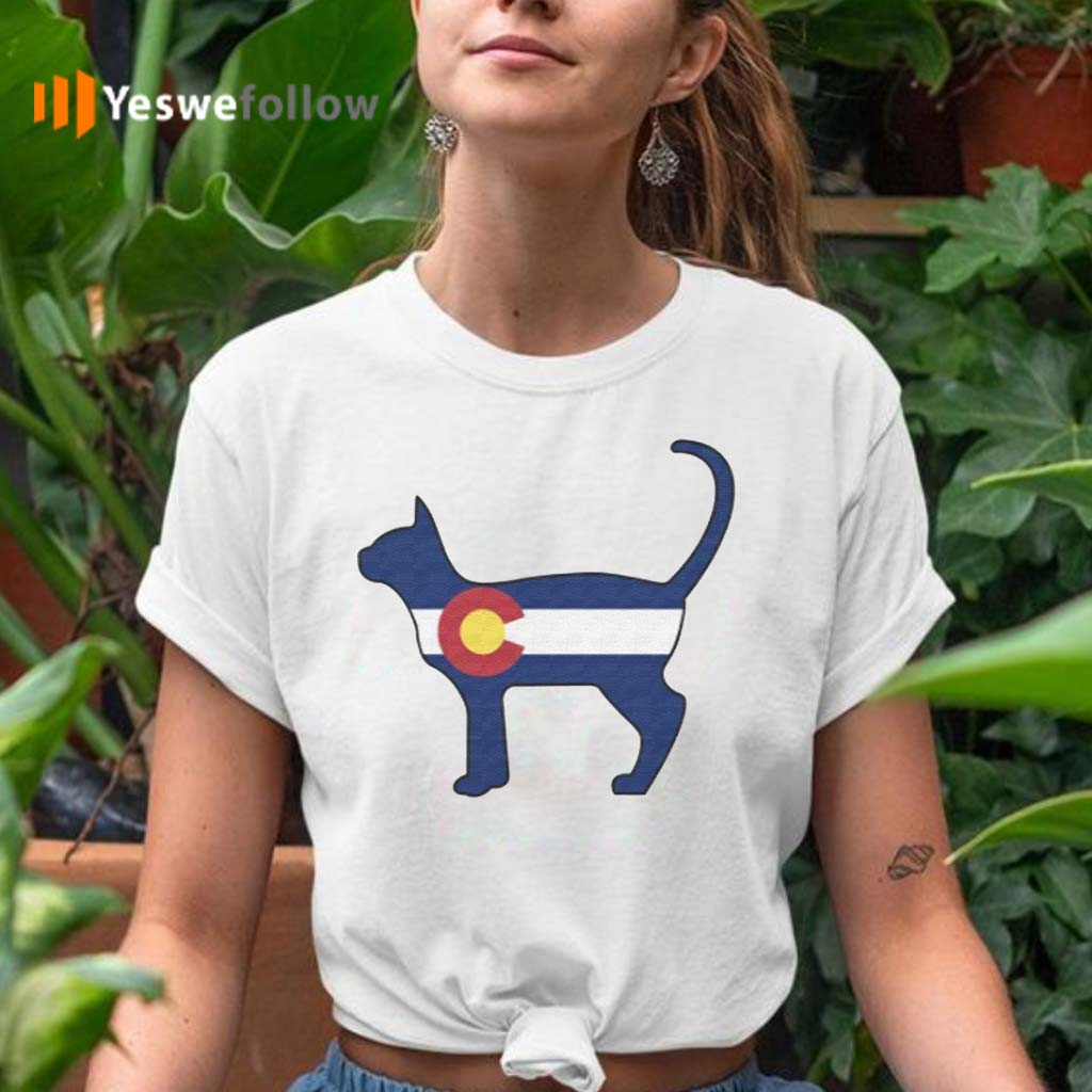 State-of-Colorado-Flag-for-Cat-Lovers-T-Shirt