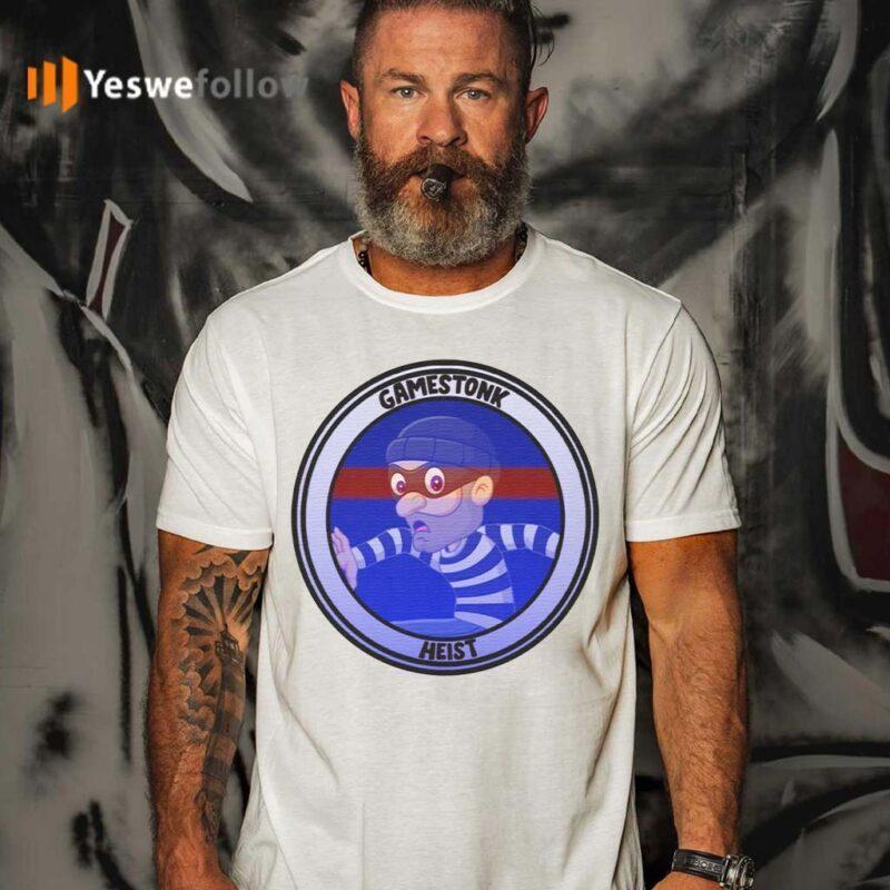 Wallstreetbets-GME-Gamestonk-Heist-T-Shirt